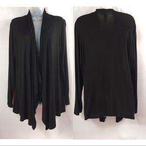 Rags and couture long sleeve wrap top